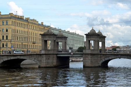 Lomonosov Bridge in Saint-Petersburg, Russia