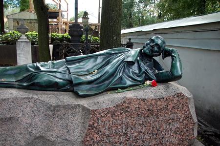 adolf: St  Petersburg;  The necropolis of the XVIII century  Grave of Gustav Adolf Mahir  1807-1842