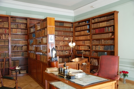 saint petersburg: Memorial apartment of Alexander Pushkin in Saint Petersburg; Cabinet Editorial