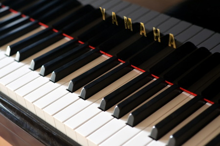 Yamaha grand piano keyboard