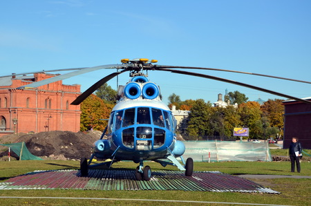 Sightseeing helicopter in the Peter and Paul Fortress, St  Petersburg