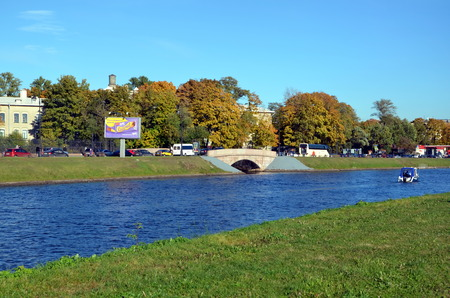 straits: View of the Bridge and Kronverksky Straits, Saint-Petersburg