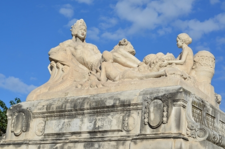 Asian colonies; Sculpture at the railway station of Saint-Charles in Marseille, France photo