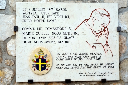 garde: Memorial  plaque at the Cathedral Notre Dame de la Garde, Marseille, France Editorial