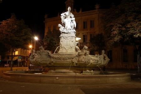 henri: The fountain on Place  Henri Estrangin in Marseille, France Stock Photo