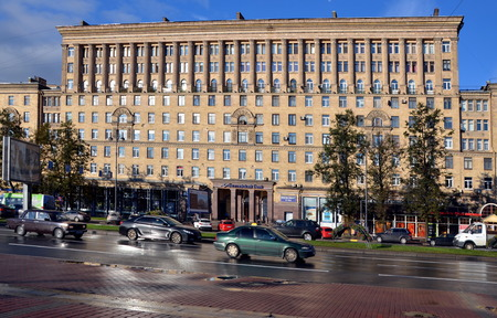 multi storey:  Moscowsky Prospect in Saint-Petersburg, Russia  Editorial