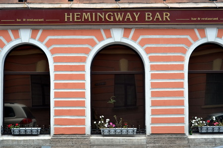 Hemingway bar in St  Petersburg