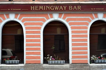 hemingway: Hemingway bar in St  Petersburg