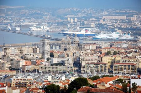 birdeye: Marseille, France;  Bird-eye view