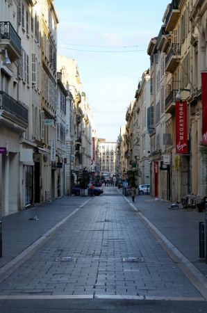 cote d'azure: Shopping street in Marseille, France