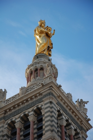 garde:  Notre-Dame de la Garde in Marseille, France