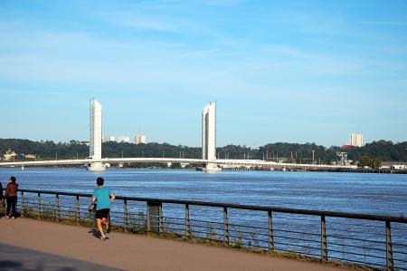pedestrian bridge: Bridge Jacques Chaban-Delmas in Bordeaux, France