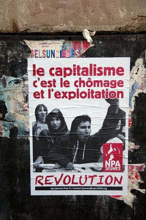 anti capitalist: The New Anticapitalist Party poster; Nouveau parti anticapitaliste, NPA, France