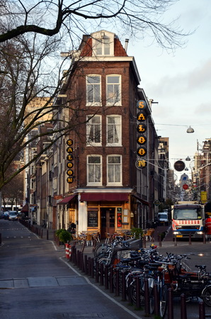 corner house: View of the corner house in Amsterdam, Holland