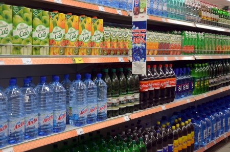 soft drinks: Soft drinks  in the store