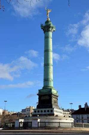 Place de la Bastille; July column; Paris, France photo