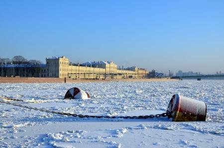 neva: Frozen River Neva, St Petersburg