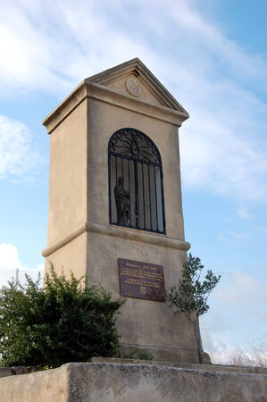 garde: Small altar in front of the Notre Dame de la Garde; Marseille, France