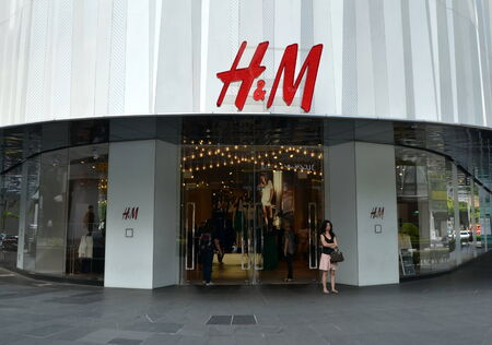 H and M store in Singapore