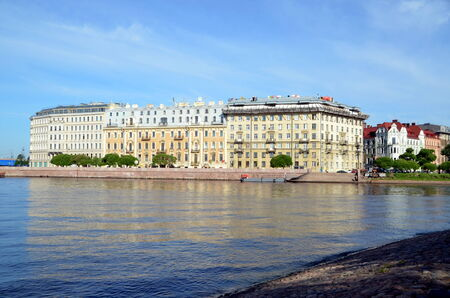 neva: Neva river embankment, St  Petersburg, Russia