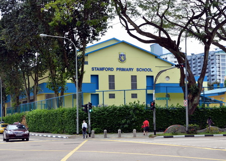 singapore building: Building of Stamford primary school in Singapore