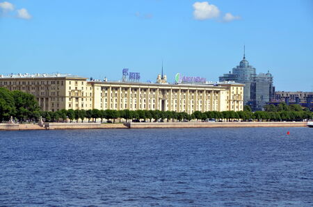 stalin empire style: Sailors house in St Petersburg; The house was built in 1931-1933 for the high command of the Military Navy of the USSR  Editorial