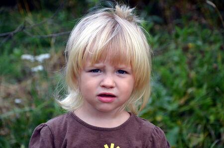 dissatisfaction: Gloomy little girl