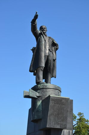 Monument to Vladimir Lenin in Saint-Petersburg; The monument was erected in 1926 photo