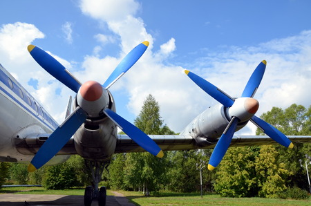Two plane propellers photo