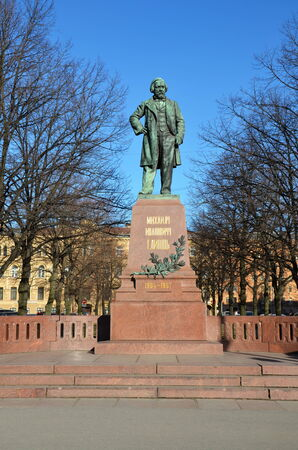 mikhail: Monument to great russian composer Mikhail Glinka in Saint-Petersburg, Russia; it was built in 1901