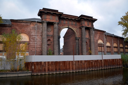 classicism: New Holland is a unique monument of industrial architecture of the early classicism. Arch was designed by French architect Jean-Baptiste Vallin de la Mothe in 1779-1787 years