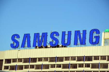 samsung: Samsung Group is a South Korean multinational conglomerate company headquartered in Samsung Town, Seou Editorial