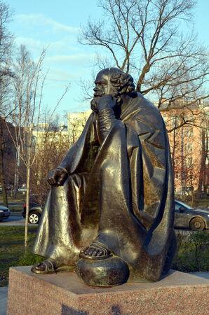 apostle: Saint Peter the Apostle. Sculpture in Alexander Park, St Petersburg