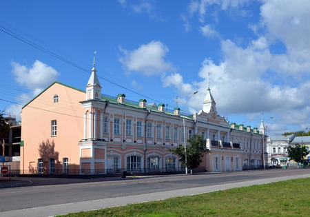 duma: The historic building of the City Duma in Vologda. Now the building is a music school. It is an architectural monument of federal significance Editorial