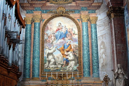martiri: Fresco in the Basilica of Santa Maria degli Angeli e dei Martiri. Rome, Italy