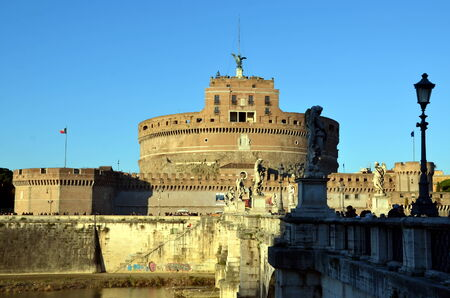 angelo: View of the Castle Sant Angelo, Rome, Italy