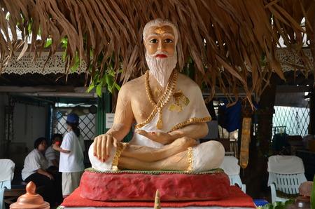 sadhu: Sculpture of sadhu  in Chiang Mai, Thailand
