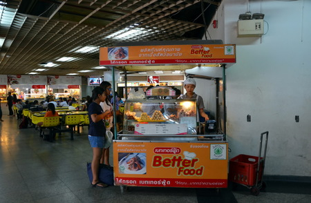 chit: Food court at the bus station Mo Chit in Bangkok Thailand