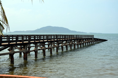 kampuchea: Old pier in Kep town Cambodia Stock Photo