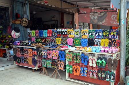 flip flops: Shoes store in Vientiane Laos. Flip Flops