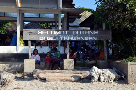 locals: The locals welcome tourists under the guise of Welcome to Gili Trawangan