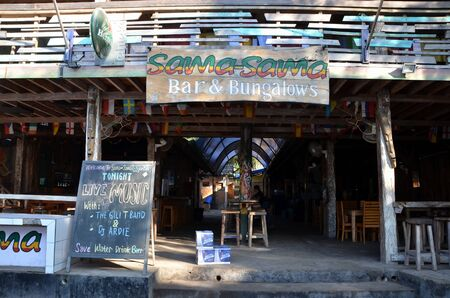 bungalows: Bar  Bungalows SamaSama.  Gili Trawangan Indonesia