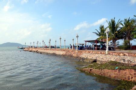 kampuchea: Beautiful pier in Kep town Cambodia