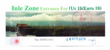 fee: Inle zone entrance fee, Myanmar