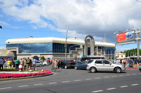 exhibition complex: Lenexpo - one of the biggest exhibition complex in St. Petersburg, Russia