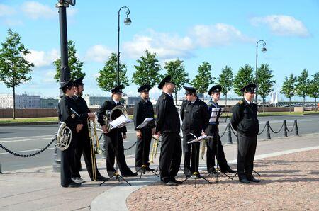 brass  band: Brass Band of Nakhimov Naval College, St. Petersburg