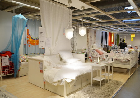 home sale: Interior of the IKEA store in St. Petersburg