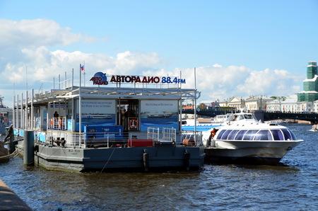neva: Speedboat on the Neva river from St-Petersburg to Peterhof