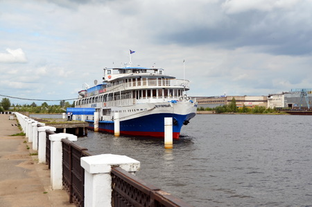 tributary: Cherepovets, boat Peter I. Cherepovets is a city in the west of Vologda Oblast, Russia, located on the banks of the Sheksna River, a tributary of the Volga River