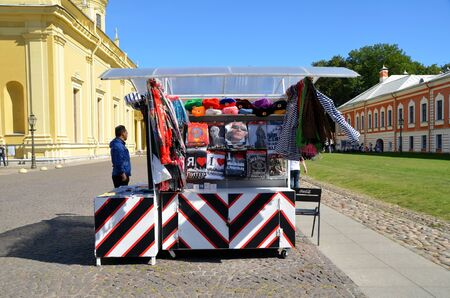 tent city: Sale of souvenirs in Peter and Paul Fortress, St. Petersburg